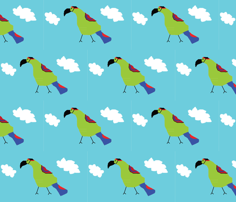 General McMacaw fabric by heartfullofbirds on Spoonflower - custom fabric