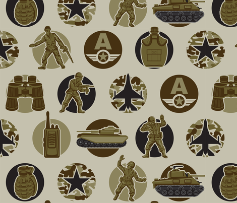 Army Dreamer fabric by cjldesigns on Spoonflower - custom fabric
