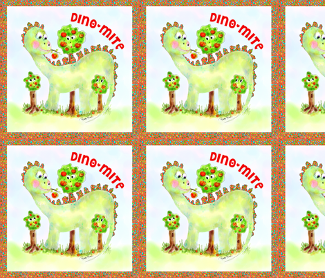 Maximilian the Dino fabric by rosannahope on Spoonflower - custom fabric