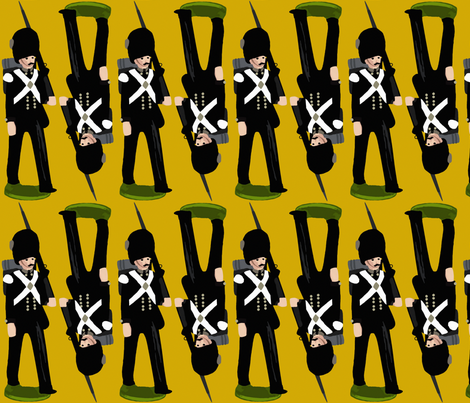 tin soldier slate yellow fabric by scrummy on Spoonflower - custom fabric