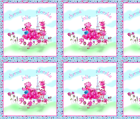 Peppie La Poodle Goes to Paris fabric by rosannahope on Spoonflower - custom fabric