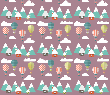 Balloon Village  fabric by icarpediem on Spoonflower - custom fabric