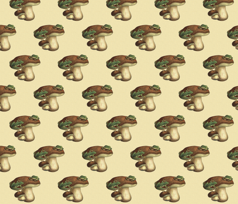 Vintage Frog Stool  fabric by icarpediem_ on Spoonflower - custom fabric