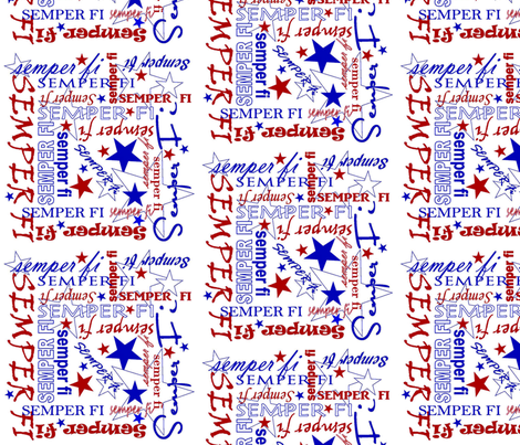 Marine Pride fabric by demouse on Spoonflower - custom fabric