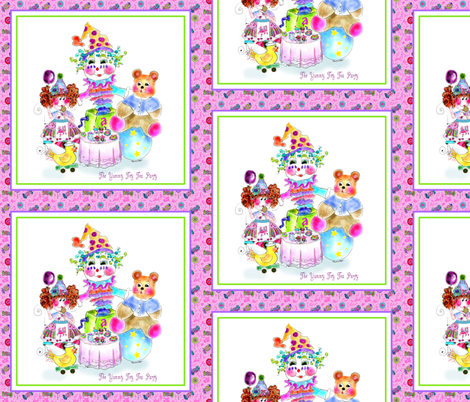 The Yummy Toy Tea Party fabric by rosannahope on Spoonflower - custom fabric