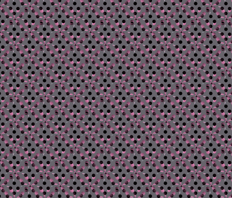 black_and_pink_dots_on_grey_background fabric by vinkeli on Spoonflower - custom fabric