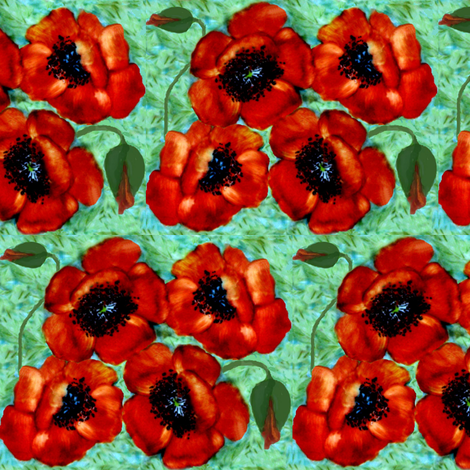 a poppy to remember fabric by paragonstudios on Spoonflower - custom fabric