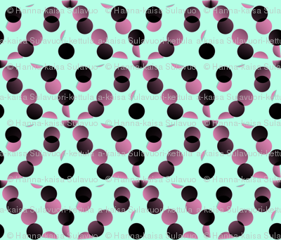 black_and_pink_dots_on_mint_green_background