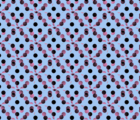 black_and_pink_dots_on_pale_blue_background fabric by vinkeli on Spoonflower - custom fabric