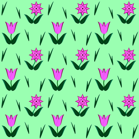 Tulip-Star fabric by grannynan on Spoonflower - custom fabric