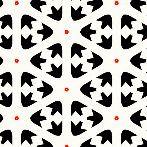 Retro Triangles fabric by stoflab on Spoonflower - custom fabric