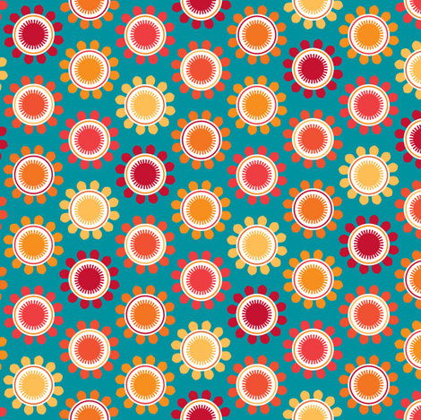 Cool Blooms fabric by kayajoy on Spoonflower - custom fabric