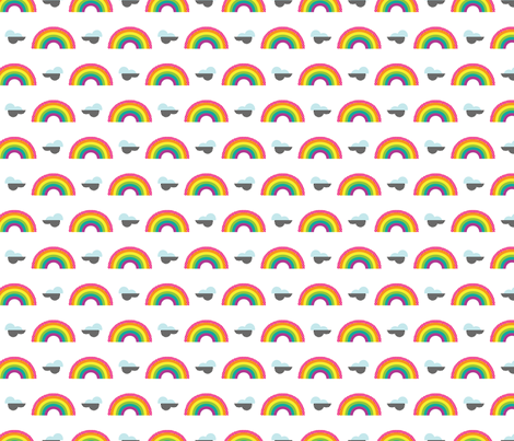 Mini Rainbow Stickers fabric by cynthiafrenette on Spoonflower - custom fabric