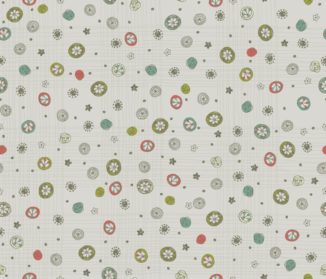 Doodle Dot fabric by cynthiafrenette on Spoonflower - custom fabric