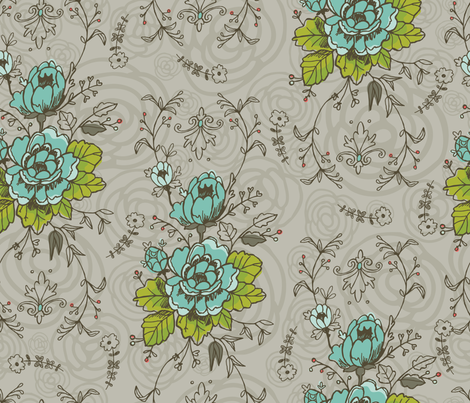 Funky Floral fabric by cynthiafrenette on Spoonflower - custom fabric