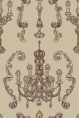 Chandelier and Candelabras Brown