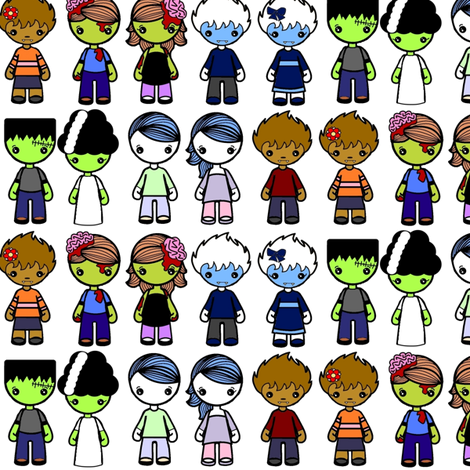 monsters fabric by knittychick on Spoonflower - custom fabric