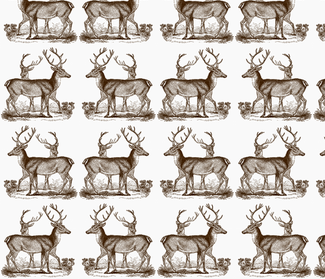Vintage Deer  fabric by icarpediem_ on Spoonflower - custom fabric