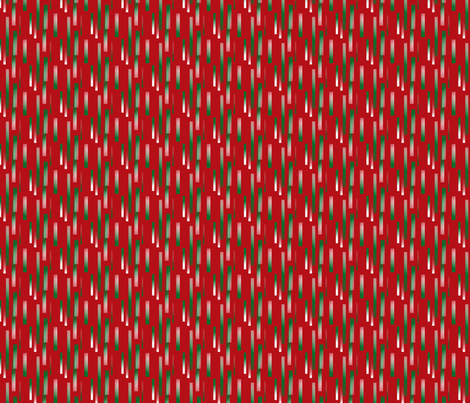 green-white_bits_on_red_background fabric by vinkeli on Spoonflower - custom fabric