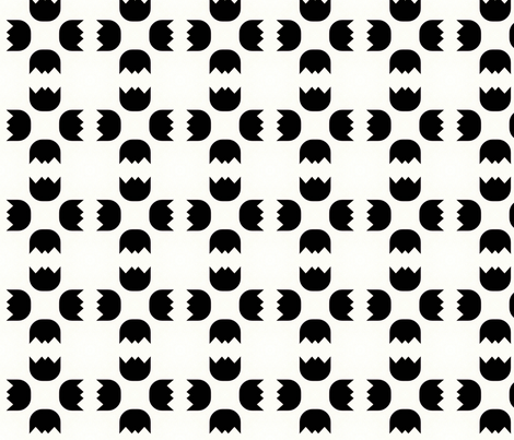 Retro Black & White fabric by stoflab on Spoonflower - custom fabric