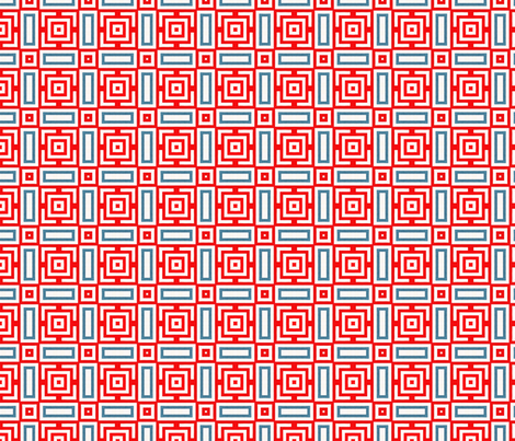 Red and Blue Boxes fabric by stoflab on Spoonflower - custom fabric