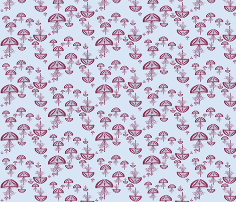 Jellyfish Danger fabric by kitschkat on Spoonflower - custom fabric