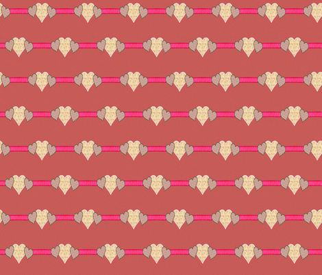 Pink Heart fabric by icarpediem_ on Spoonflower - custom fabric