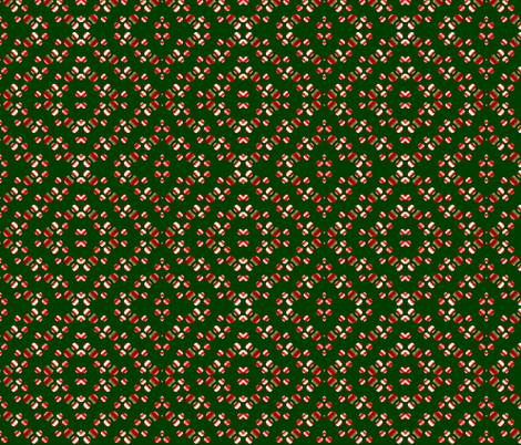 red-white_balls_on_green_background fabric by vinkeli on Spoonflower - custom fabric