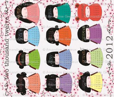 Kokeshi Calendar 2012