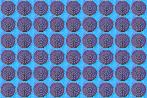 manhole mandala fabric by keweenawchris on Spoonflower - custom fabric