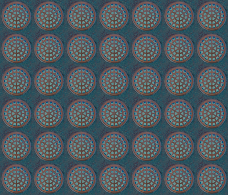 manhole mandala fabric by keweenawchris on Spoonflower - custom fabric
