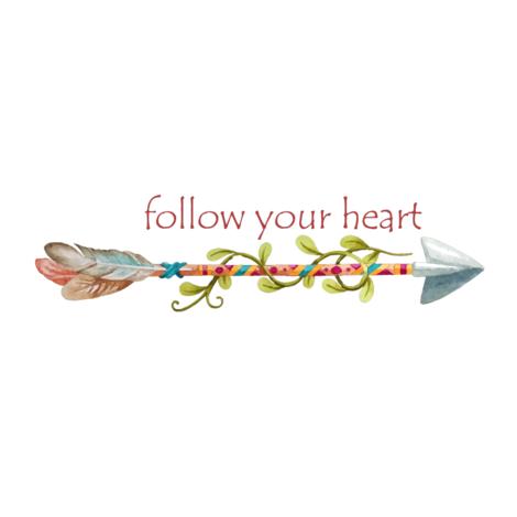 Follow Your Heart Tribal Art fabric by icarpediem on Spoonflower - custom fabric