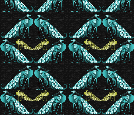 Peacock fabric by icarpediem on Spoonflower - custom fabric