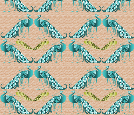 Peacock  fabric by icarpediem_ on Spoonflower - custom fabric