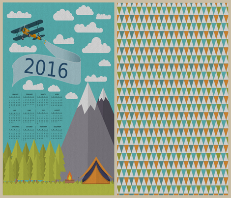 Nature Lover's Calendar with Background Pattern fabric by icarpediem on Spoonflower - custom fabric