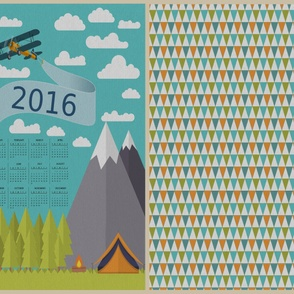Nature Lover's Calendar with Background Pattern