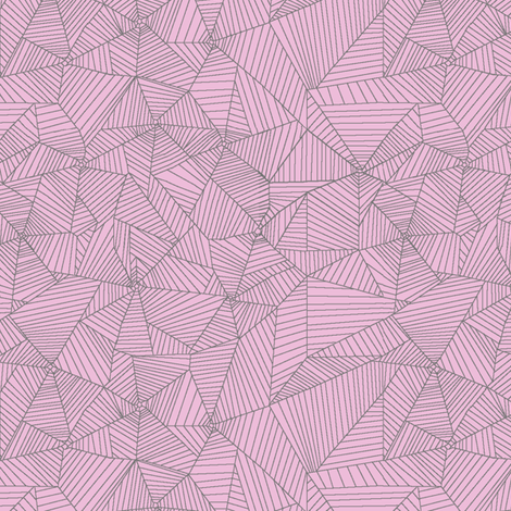 Gray Spiderwebs on Pink Background fabric by muddyfoot on Spoonflower - custom fabric