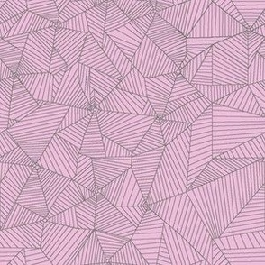 Gray Spiderwebs on Pink Background