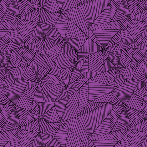 Black Spiderwebs on Lavander Purple Background