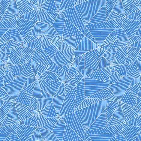 White Spiderwebs on Light Blue Background