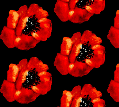 poppies remember me fabric by paragonstudios on Spoonflower - custom fabric