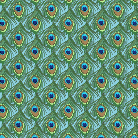 peacock_by_the_numbers_2 fabric by glimmericks on Spoonflower - custom fabric