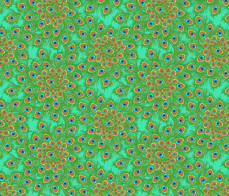 peacock_by_the_numbers_1a fabric by glimmericks on Spoonflower - custom fabric