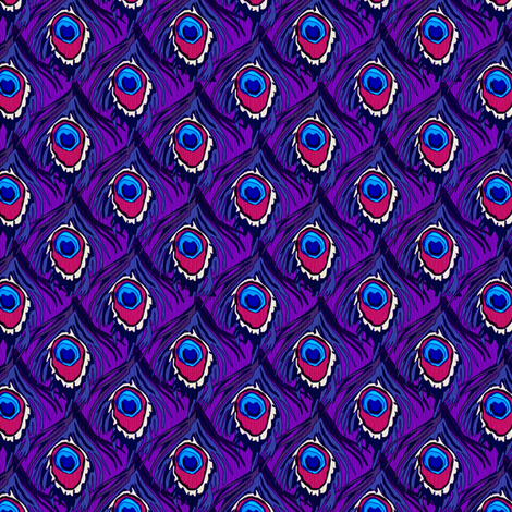 peacock_by_the_numbers grape fabric by glimmericks on Spoonflower - custom fabric