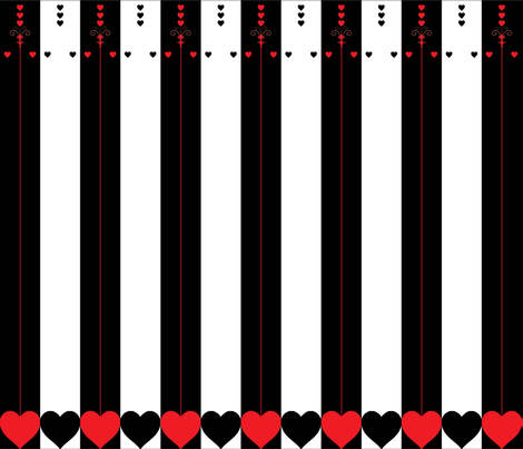 alice- card stripe design