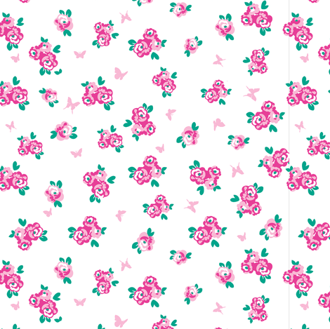 Rose garden fabric by danielle_b on Spoonflower - custom fabric