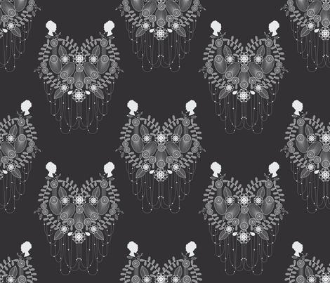 Crown Jewels black fabric by danielle_b on Spoonflower - custom fabric