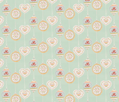 Vintage Baubles fabric by hannahmaylatham on Spoonflower - custom fabric