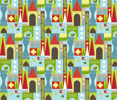 Castle Boy - version 2 fabric by kayajoy on Spoonflower - custom fabric