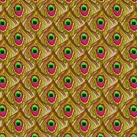 peacock_by_the_numbers pineneedle fabric by glimmericks on Spoonflower - custom fabric
